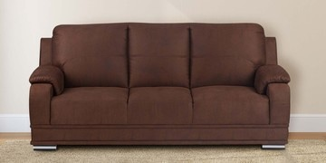 Blossom Three Seater Sofa In Brown Colour By @home