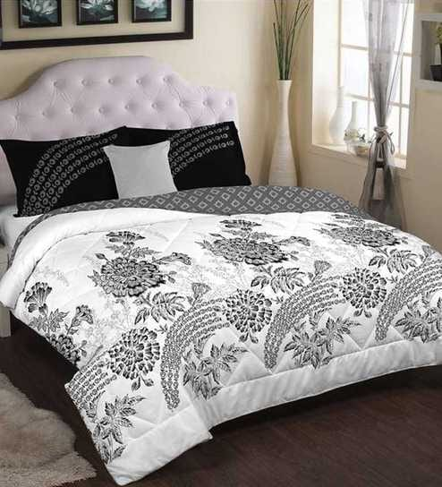 Portico New York Black White Special Cadence Double Bed Comforter