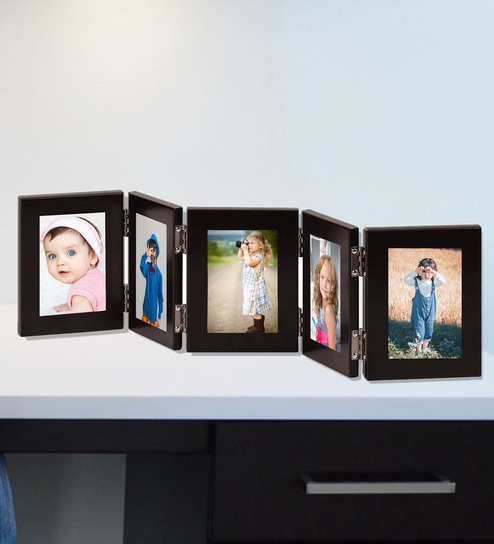 Buy Black Quinary Picture Photo Frames With Glass Front By Wens Online Multi Photo Frames Photo Frames Home Decor Pepperfry Product