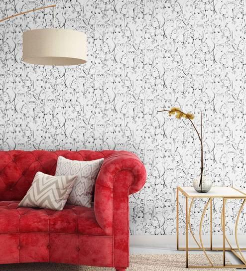Buy Black White Peeps Wallpaper Nilaya Wall Coverings By Asian