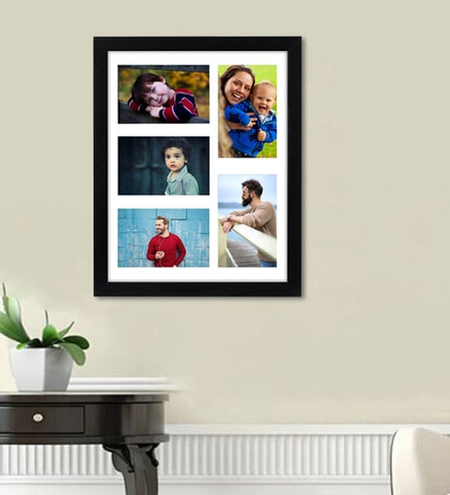 Buy Black 14X 0.5X 17 Inch Synthetic Wood Collage Picture Frame By ...