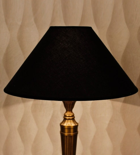 Buy black cotton lamp shade by kapoor e illuminations online black cotton lamp shade by kapoor e illuminations mozeypictures
