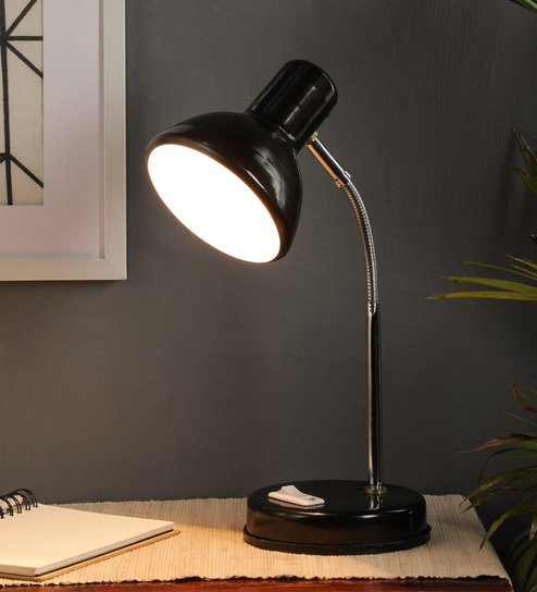 Black Metal Study Lamp By Brightdaisy
