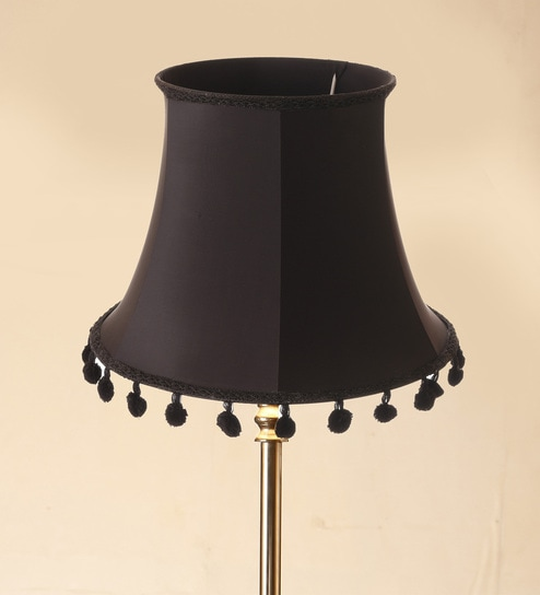 Buy Black Silk Lamp Shade by Anasa Online - Lamp Shades - Lamp ...