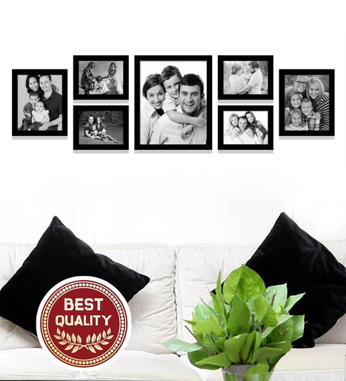 Black Synthetic Wood 17 x 1 x 58 Inch Wall Collage Photo Frames by  Imaginations