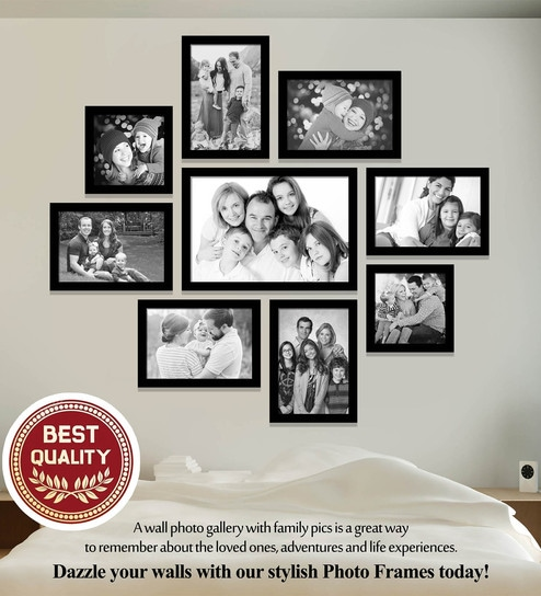 Black Synthetic Wood 44 X 1 50 Inch Wall Collage Photo Frames By Imaginations