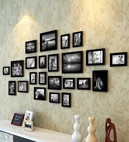 Black Synthetic Wood Wall Photo
