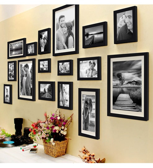 Buy Black Synthetic Wood Shooting Star Set Of 16 Individual Photo