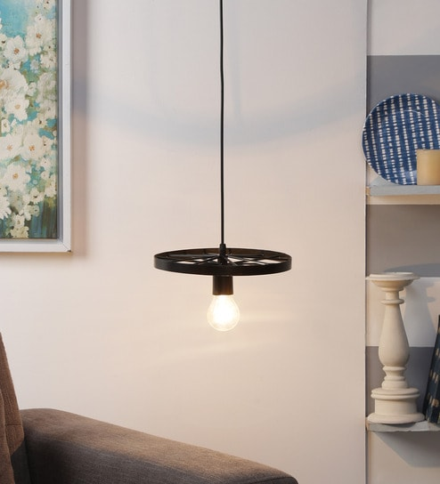 Black Wrought Iron Hanging Light By Beverly Studio