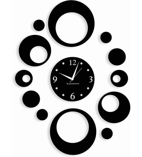 Designer Wall Clocks blacksmith black many circles designer wall clockblacksmith