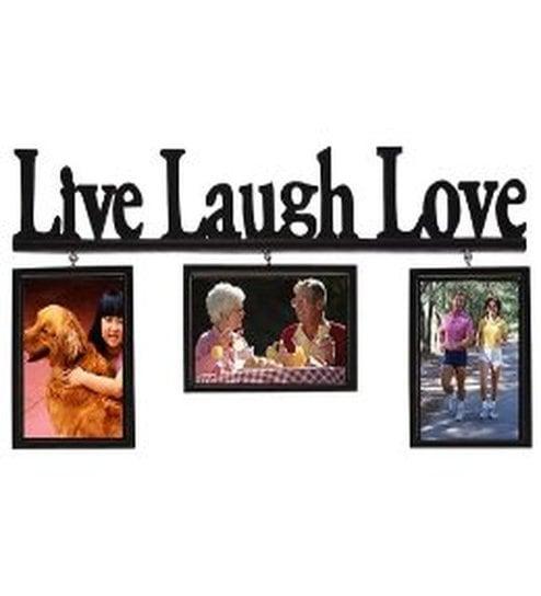 Buy Blacksmith Live, Laugh, Love Black Photo Frame - 3 Frames Online ...