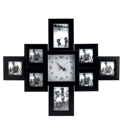 Blacksmith Black Photo Frame Cum Wall Clock By Blacksmith Online