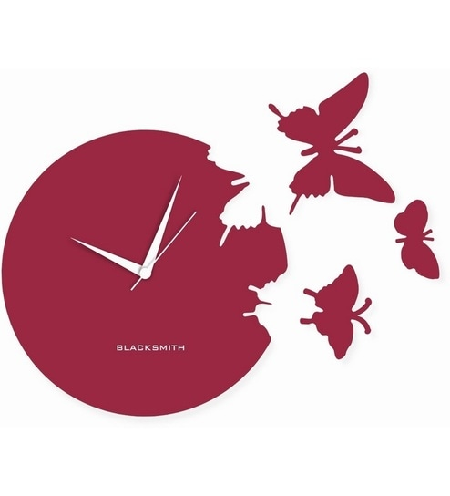 Blacksmith Butterfly Lilac Wall Clock By Blacksmith Online Mesmerizing Butterfly Home Decor Accessories