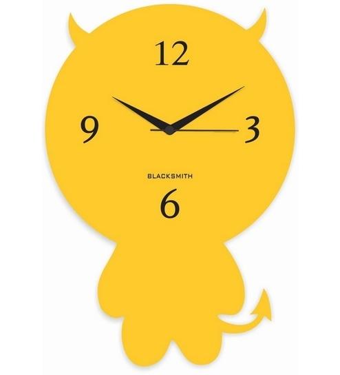 blacksmith yellow cute cartoon wall clock by blacksmith online