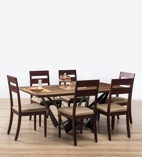 d71518378 Buy Blanch Six Seater Dining Set By Durian Online Six Seater. Durian Dining  Sets Price In India ...