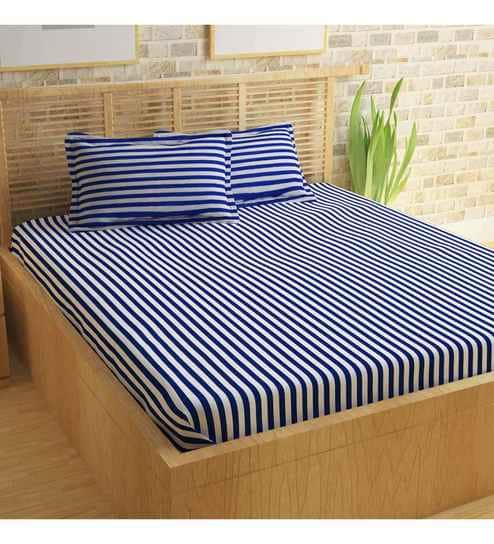 Superbe Geometric Pattern 152TC Cotton Queen Size Bed Sheet With 2 Pillow Covers By  Story@Home