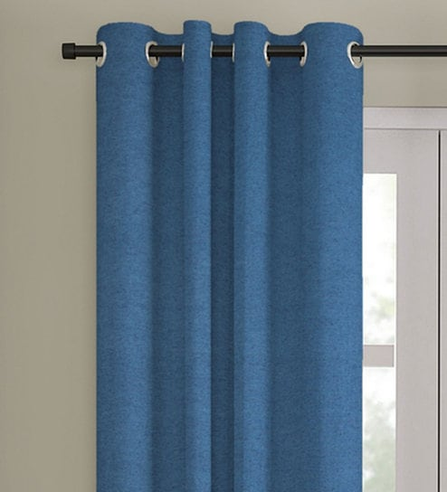 Cotton 5 Feet Eyelet Window Curtain