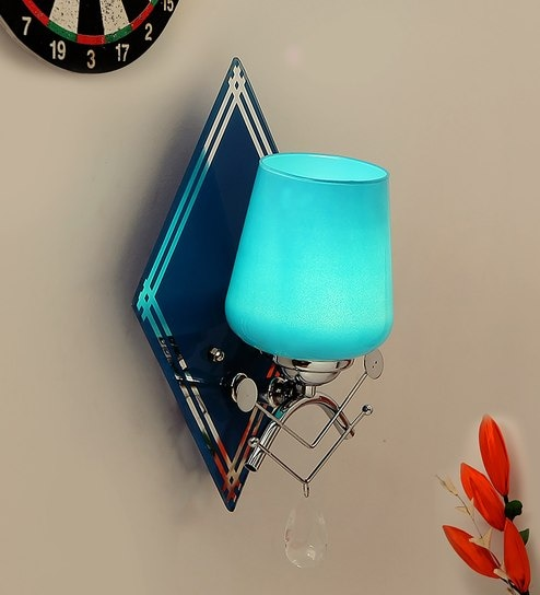 Blue Glass Wall Mounted by Aesthetic Home Solutions