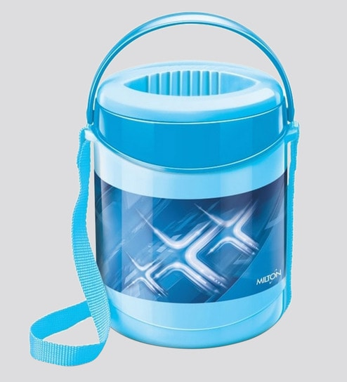 buy blue plastic stainless steel lunch box with leak lock 3