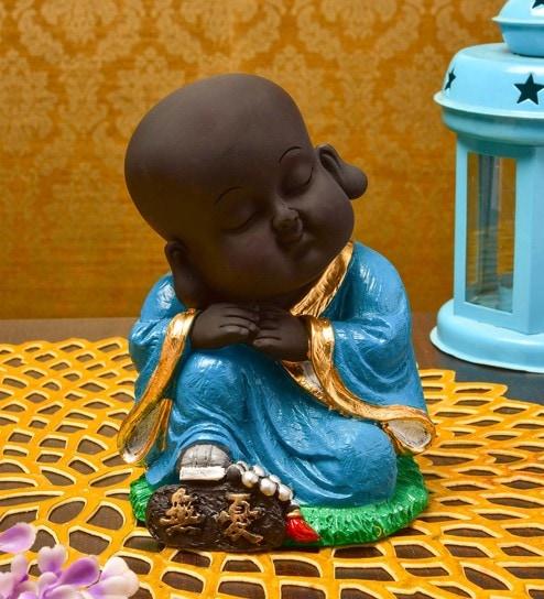 Blue Resin Buddha Showpiece By Karigaari India