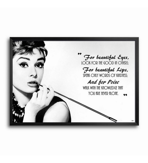 Bluegape Audrey Hepburn Framed Poster by Bluegape Online - Sports ...