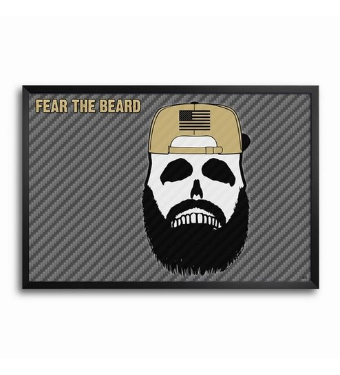 fcb3e568ff52 Bluegape Fear The Beard Framed Poster by Bluegape Online - Other Posters -  Home Decor - Pepperfry Product