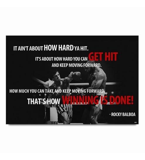 Bluegape Rocky Balboa Quotes Poster
