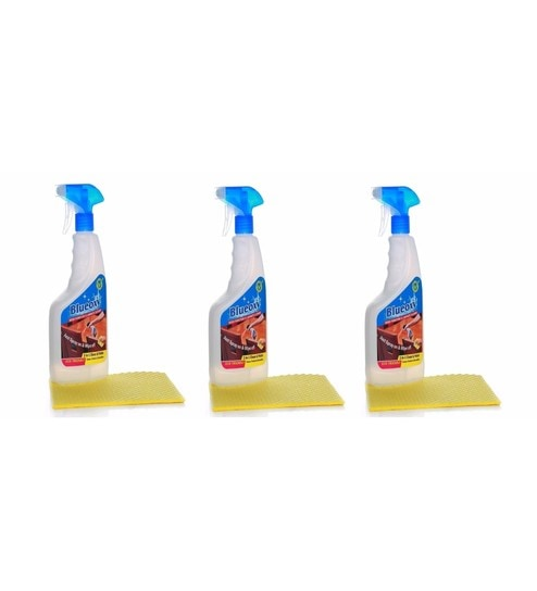Blueoxy 500Ml Wood Furniture U0026 Laminate Cleaner With Cellulose Sponge  Cleaner   Set Of 3