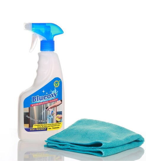 Buy Blueoxy Stainless Steel Cleaner Amd Polish 500ml Bottle With One