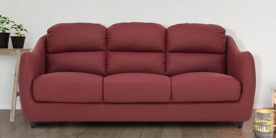 Terrific Blaze 3 Seater Sofa In Red Colour By Durian Dailytribune Chair Design For Home Dailytribuneorg