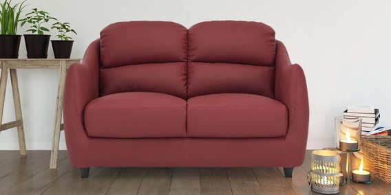 Awesome Blaze 2 Seater Sofa In Red Colour By Durian Dailytribune Chair Design For Home Dailytribuneorg