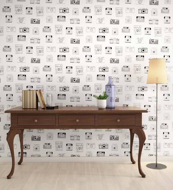 Buy Black White Papparazzi Wallpaper Nilaya Wall Coverings By Asian Paints Online Pattern Textures Wallpapers Furnishings Home Decor Pepperfry Product
