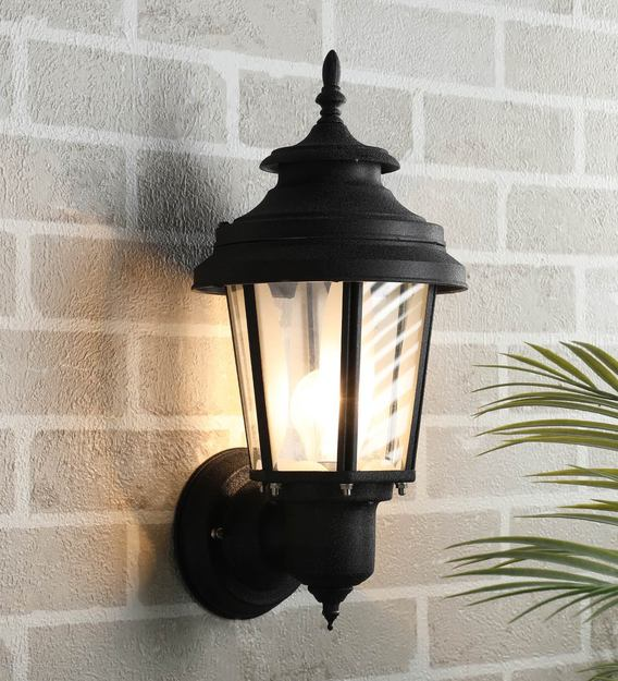 Buy Exterior Black Metal Outdoor Wall Light By Superscape Outdoor Lighting Online Outdoor Wall Lights Outdoor Lights Lamps Lighting Pepperfry Product