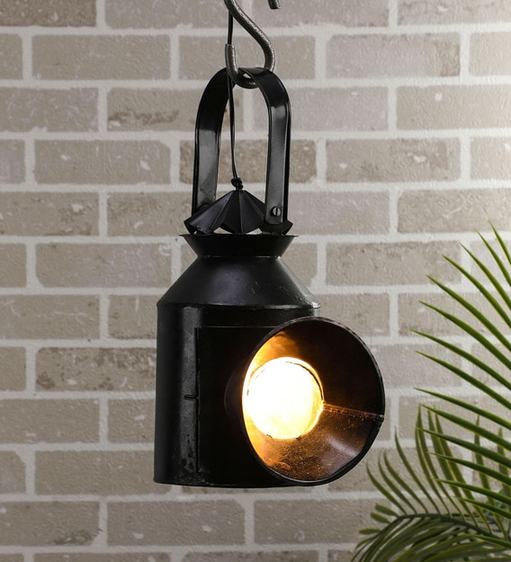 Black Metal Outdoor Hanging Light, Hanging Lights For Outdoors