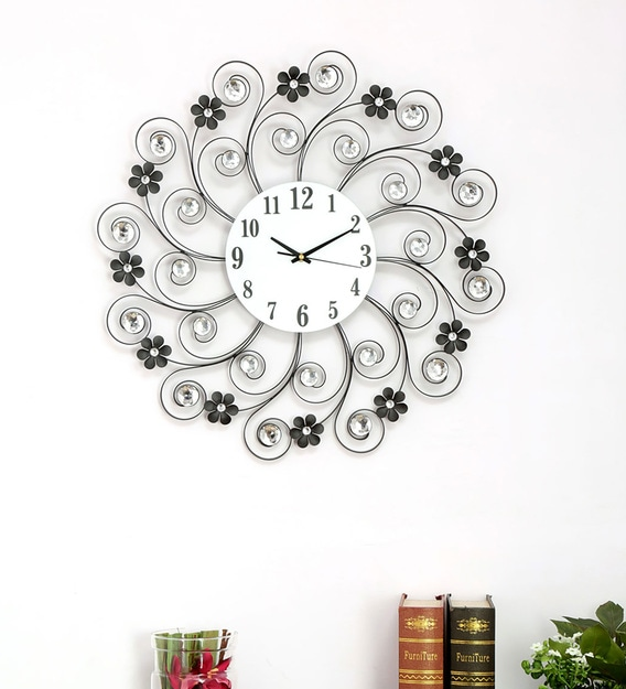 Buy Black Engineered Wood Analog Wall Clock By Home Online Novelty Wall Clocks Wall Clocks Home Decor Pepperfry Product