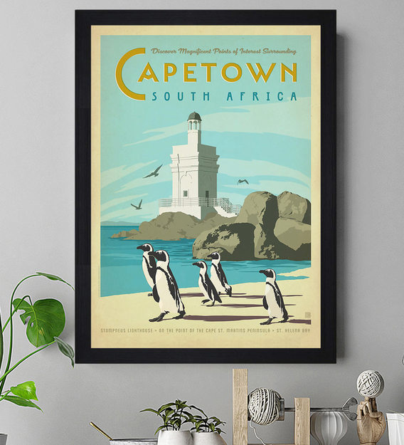 Buy Blue Wood Capetown South Africa Textured Paper Scratch Dust Proof Framed Art Print By Chaque Decor Online People Places Art Prints Art Prints Home Decor Pepperfry Product