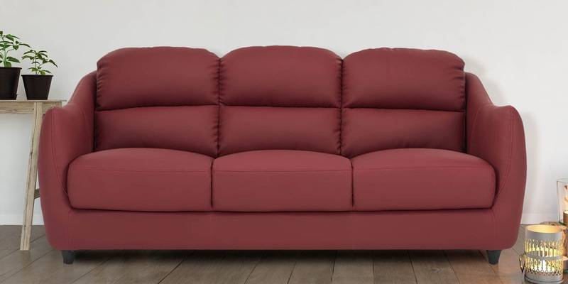 Superb Blaze 3 Seater Sofa In Red Colour By Durian Dailytribune Chair Design For Home Dailytribuneorg