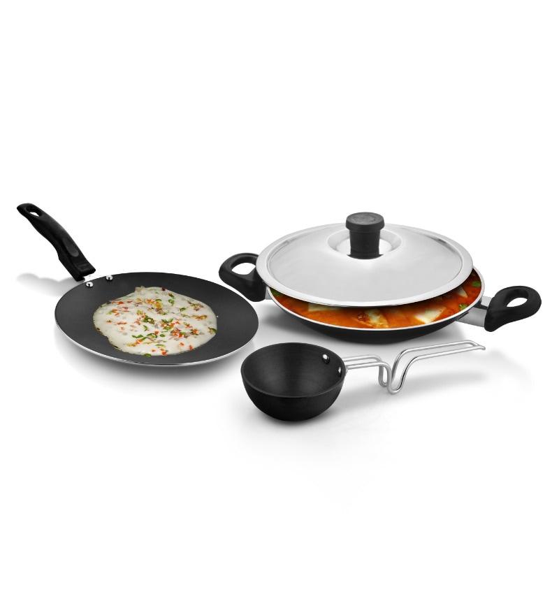 Black Diamond Designer Cookware Set Tava Kadhai