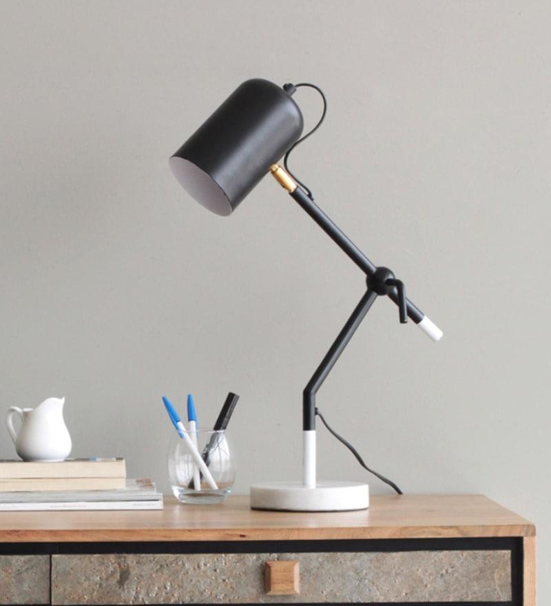 Black Iron Kawa Study Table Lamp by Orange Tree