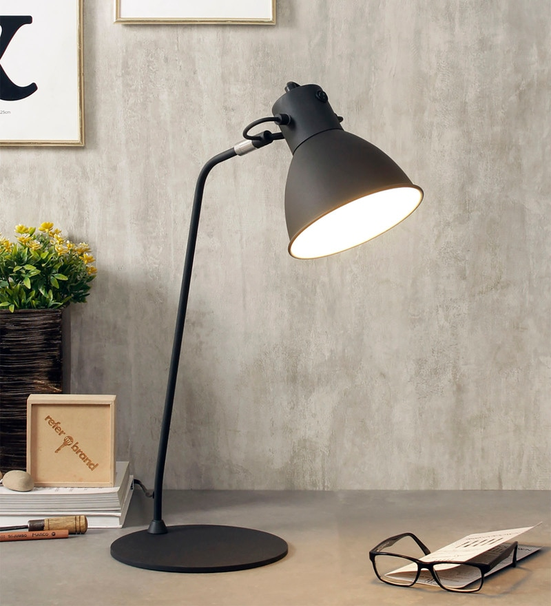 Black Metal Desk Lamps by Jainsons Emporio