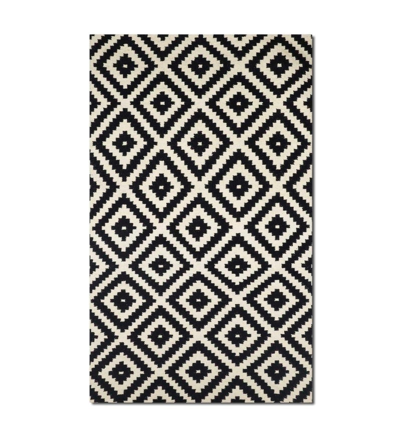 Black Wool 72 x 48 Inch Carpet by Imperial Knots