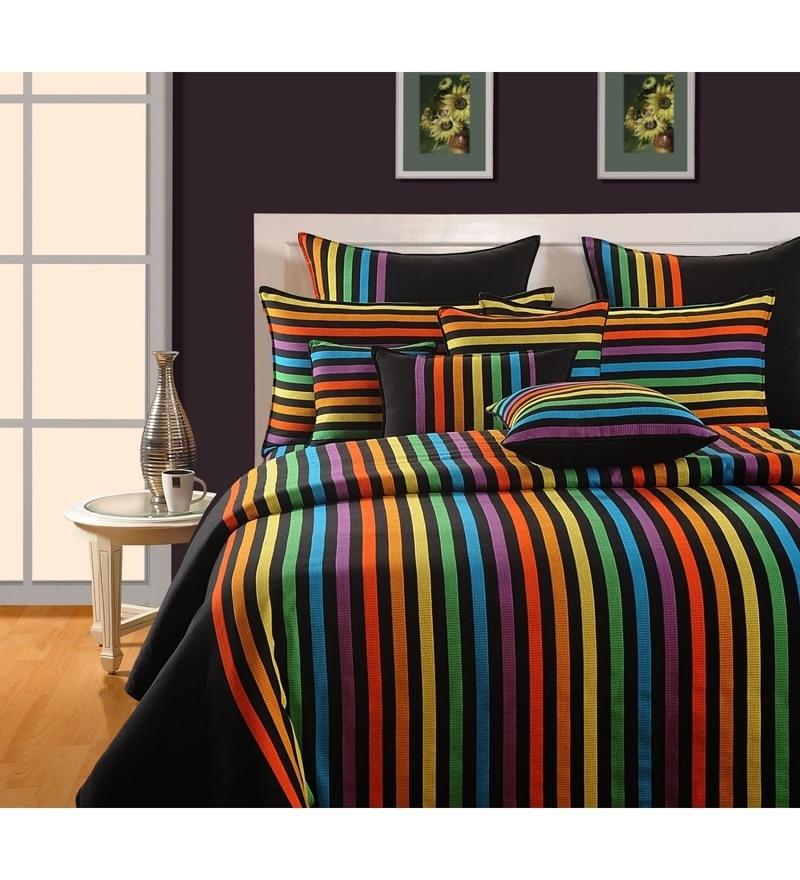 Blue Cotton King Size Bedsheet - Set of 3 by Swayam