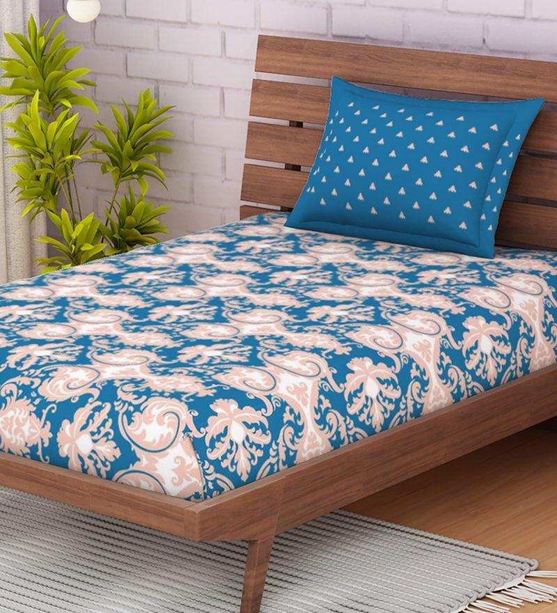 Omnia Cotton 144tc Single Bedsheet