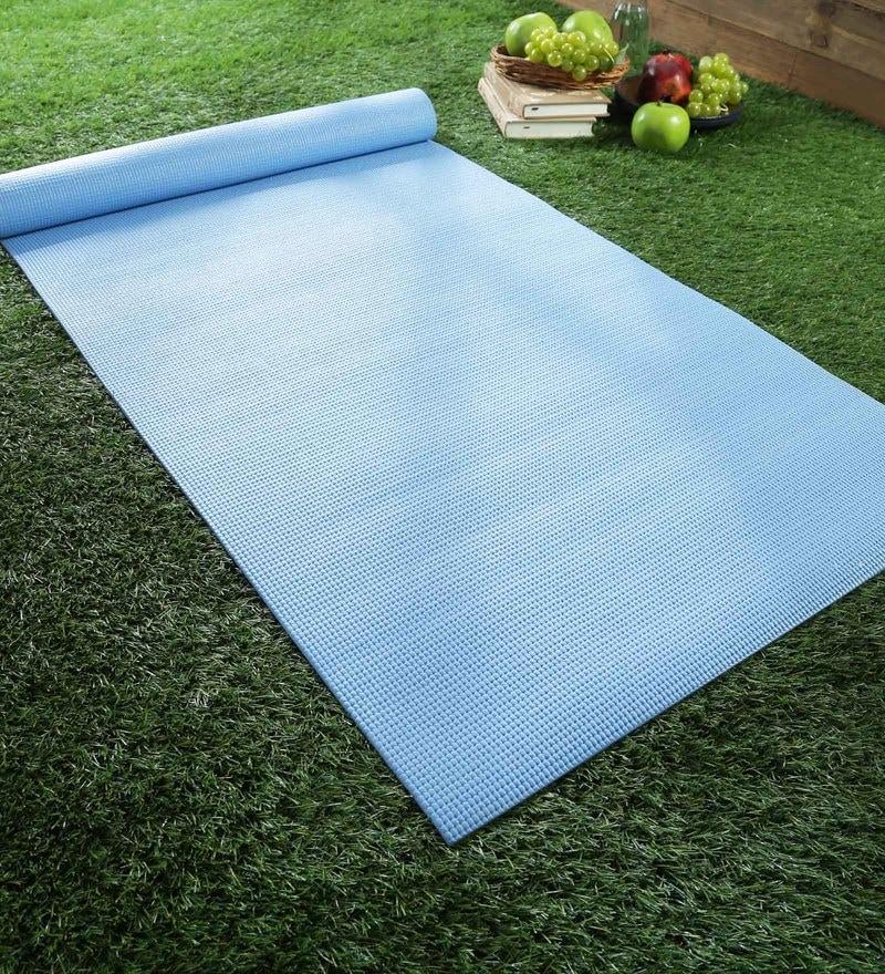 Blue PVC 68 x 24 Inch Yoga Mat by SS Silverware