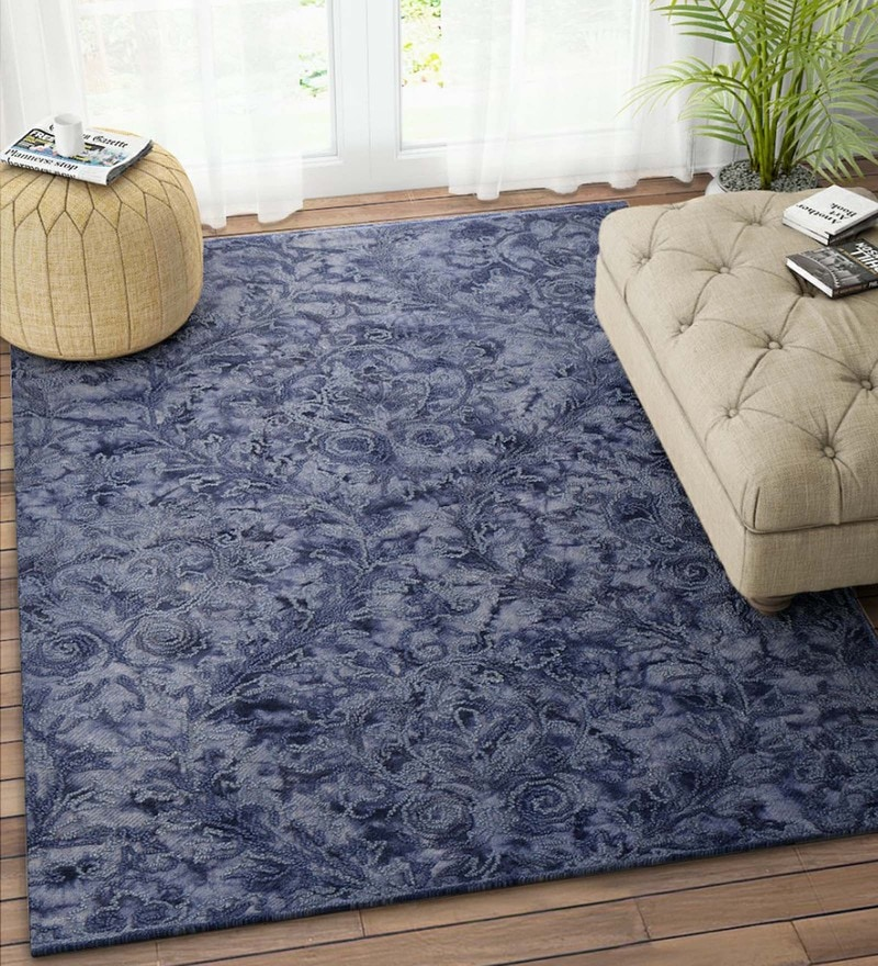 Blue Wool 90 x 60 Inch Carpet by Imperial Knots