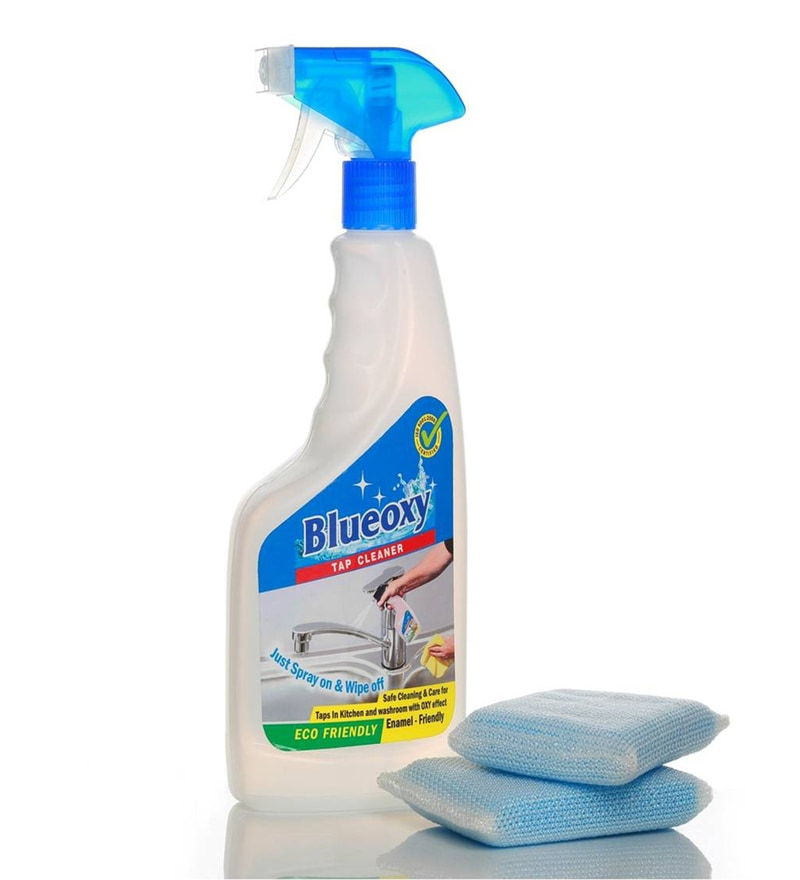Blueoxy White 500 Ml Tap Cleaner with Cellulose Cleaning Pads