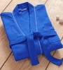 Blue Cotton INCH Bath Robe by Bliss