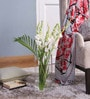 Clear Glass LSA Column Vase by Bloomfields