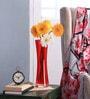 Red Glass LSA Zaika Case Vase by Bloomfields
