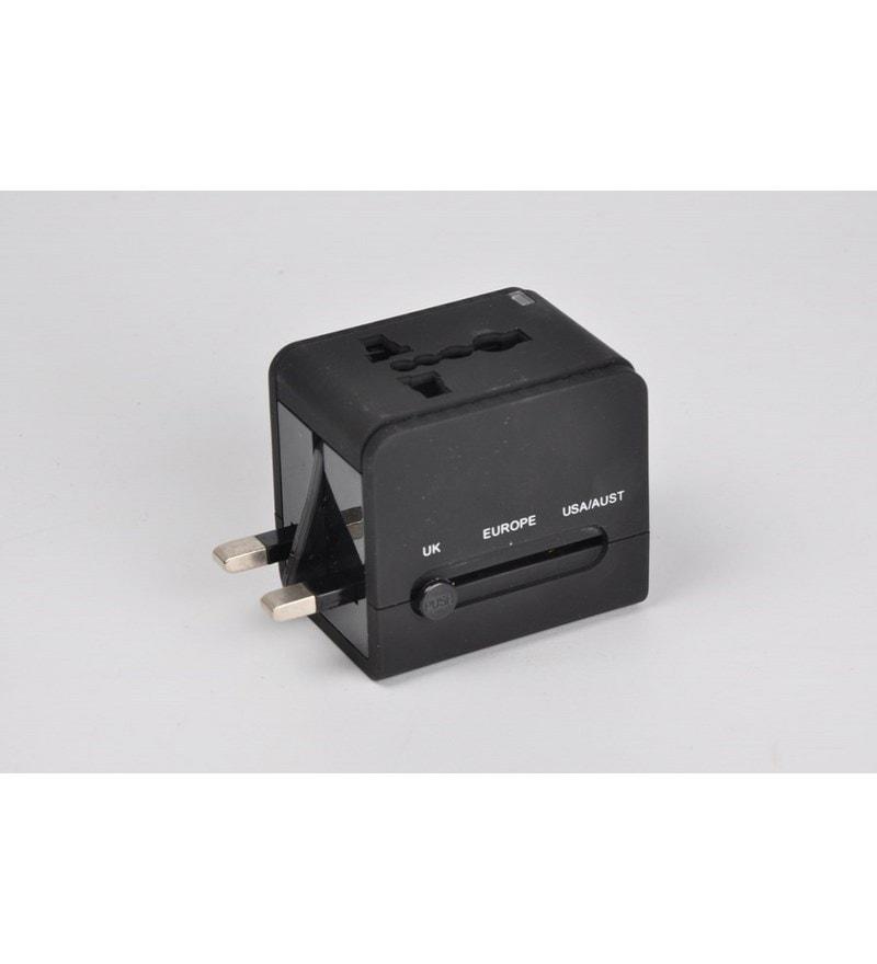 BMS Black 5.1 x 1.9 x 3.9 Inch Travel Adaptor